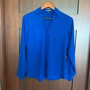 Express Portofino Button Down Blouse